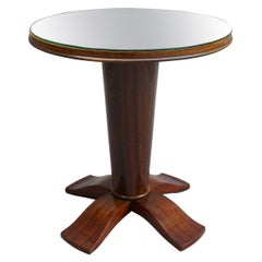 Fine French Art Deco Palisander Gueridon with a Mirrored Top