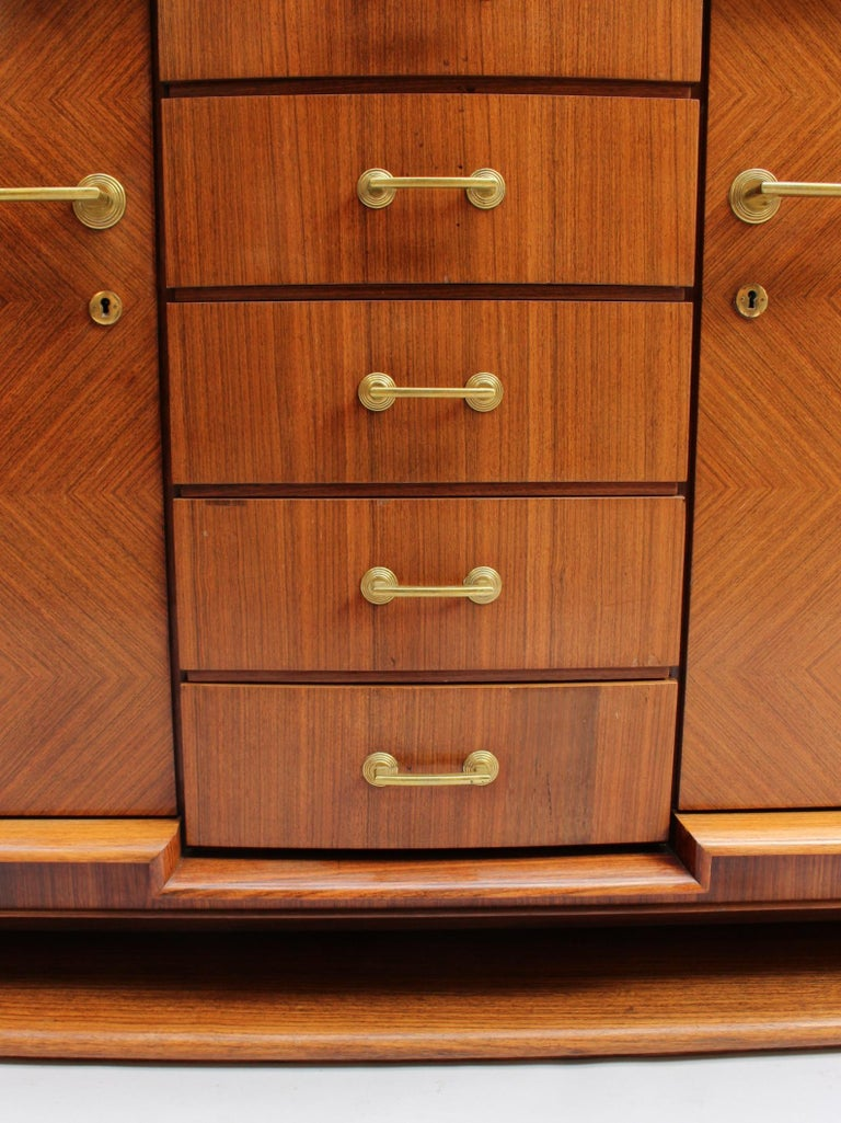 Fine French Art Deco Palisander Sideboard by Maxime Old For Sale 5
