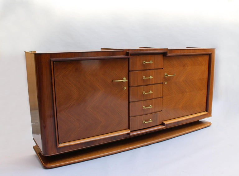 Fine French Art Deco Palisander Sideboard by Maxime Old In Fair Condition For Sale In Long Island City, NY