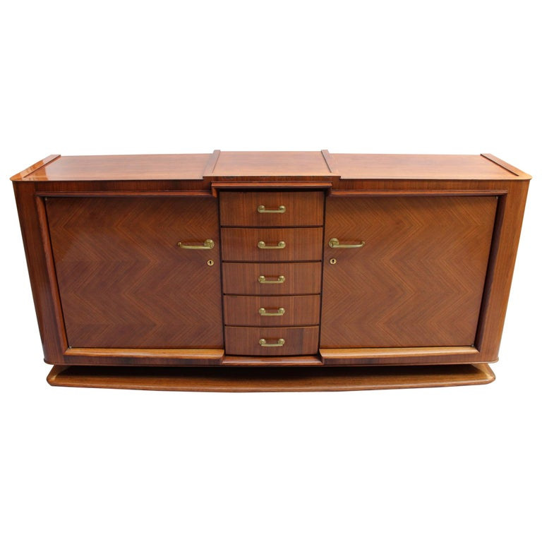 Fine French Art Deco Palisander Sideboard by Maxime Old For Sale