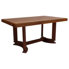 Fine French Art Deco Rectangular Oak Dining Table