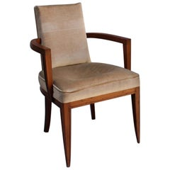 Fine French Art Deco Rosewood Armchair by Maxime Old