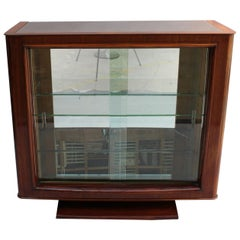 Fine French Art Deco Rosewood Vitrine or Bar by Maxime Old
