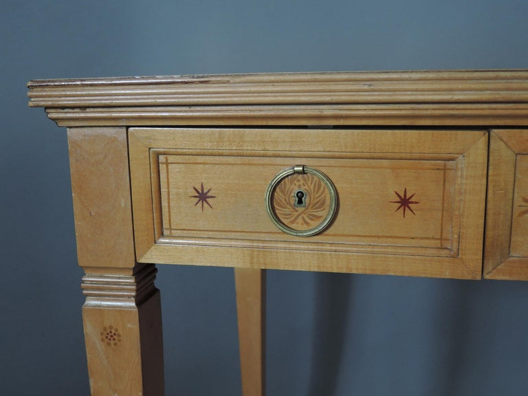 Fine French Art Deco Sycamore Desk by R. Damon & Bertaux For Sale 5
