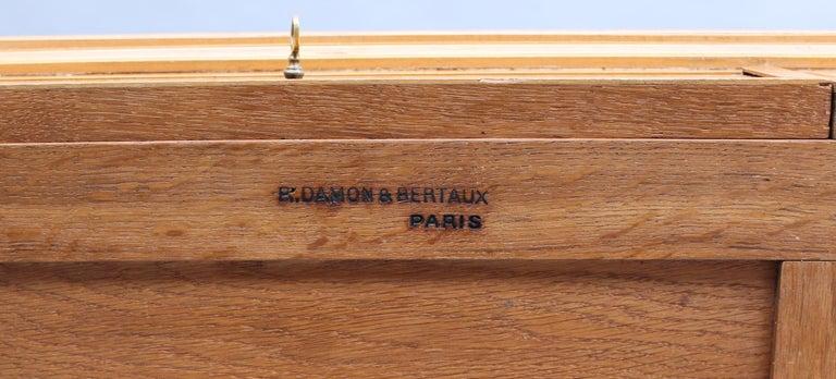 Fine French Art Deco Sycamore Desk by R. Damon & Bertaux 10