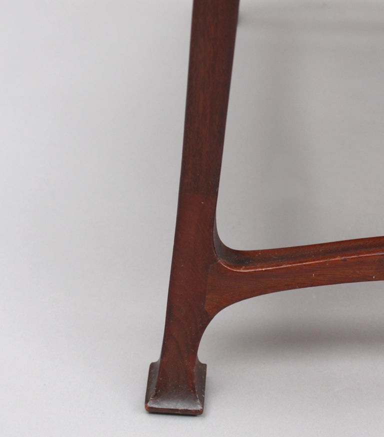 Fine French Art Nouveau Upholstered Mahogany Bench For Sale 7