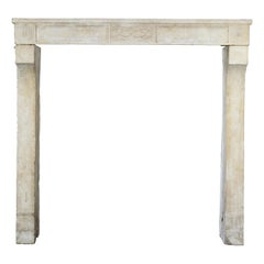 Fine French Country and Classy Antique Fireplace Surround in Limestone