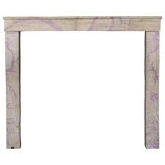 Fine French Country Limestone Vintage Fireplace Surround Designed by Nature