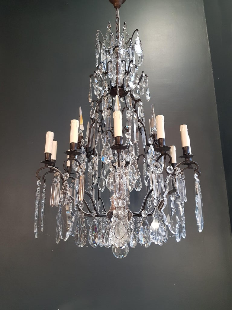 Fine French Crystal Chandelier Ceiling Lamp Lustre Lamp 2