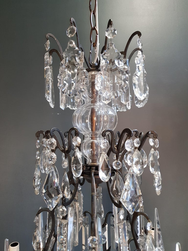 Fine French Crystal Chandelier Ceiling Lamp Lustre Lamp 3