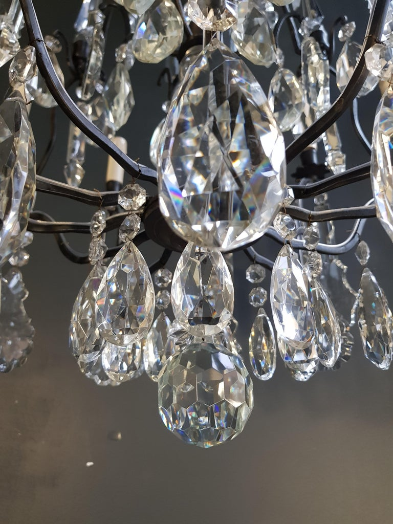Fine French Crystal Chandelier Ceiling Lamp Lustre Lamp 8