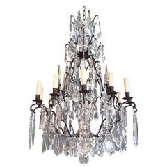 Fine French Crystal Chandelier Ceiling Lamp Lustre Lamp
