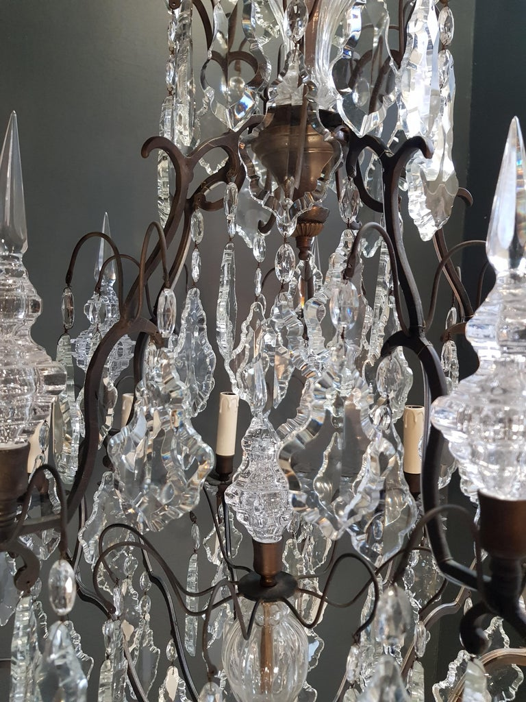 Fine French Crystal Chandelier Ceiling Lamp Lustre  10