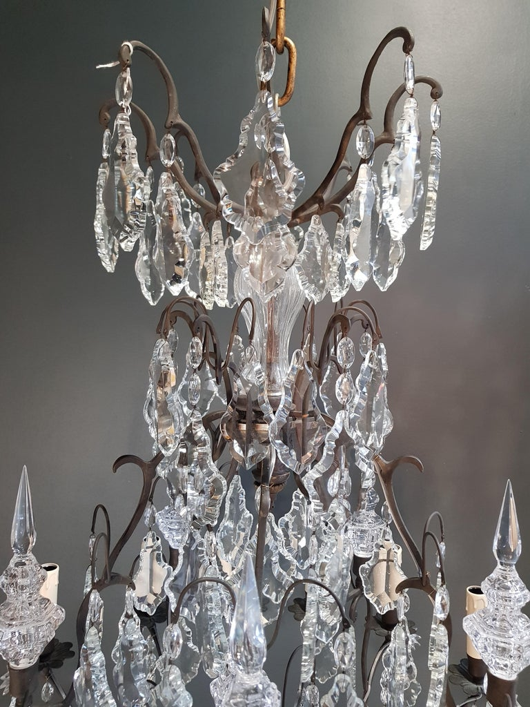 Fine French Crystal Chandelier Ceiling Lamp Lustre  11