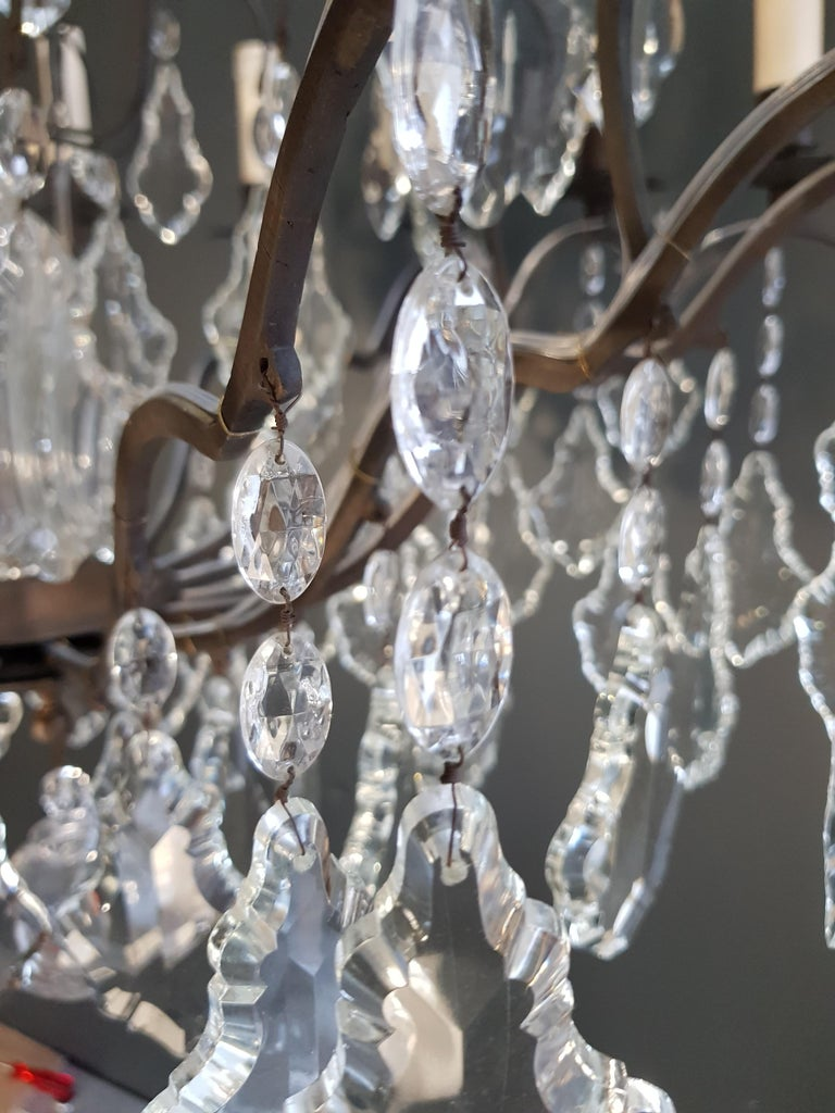 Fine French Crystal Chandelier Ceiling Lamp Lustre  12