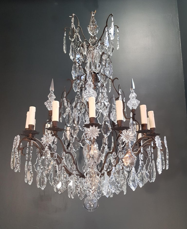 Fine French Crystal Chandelier Ceiling Lamp Lustre  2