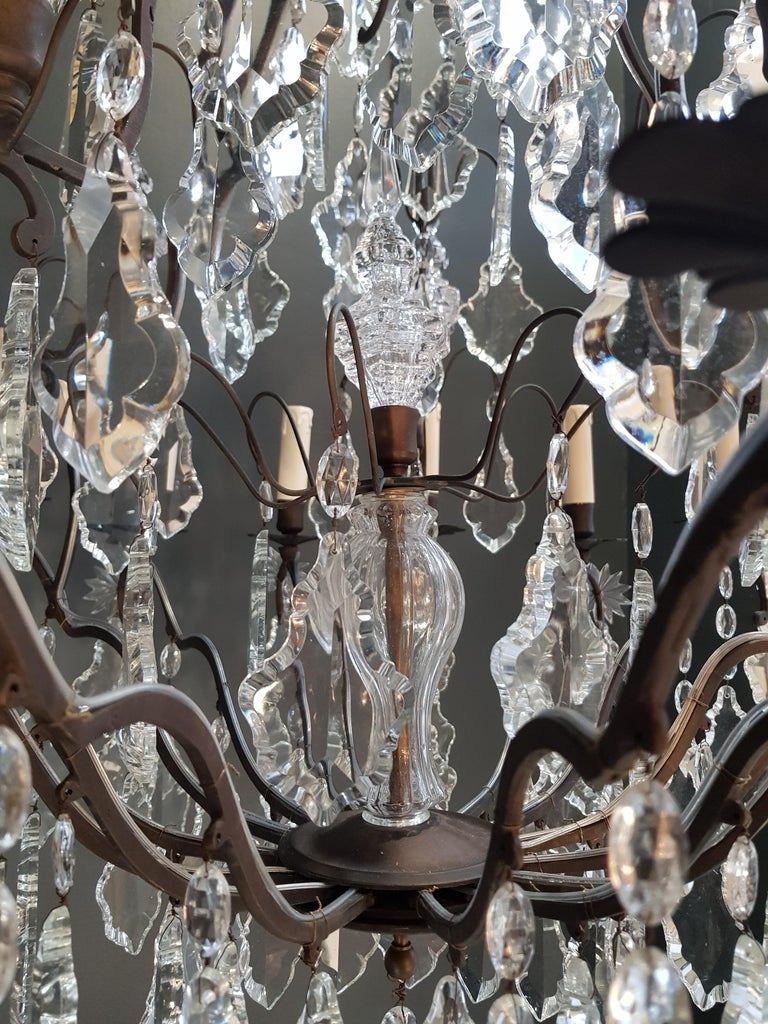Fine French Crystal Chandelier Ceiling Lamp Lustre  5