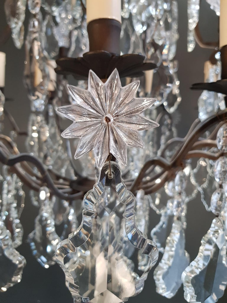 Fine French Crystal Chandelier Ceiling Lamp Lustre  6