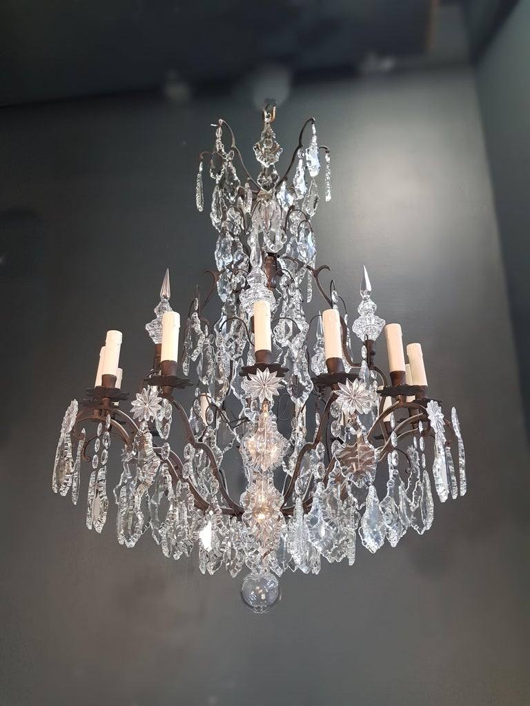 Fine French Crystal Chandelier Ceiling Lamp Lustre  7