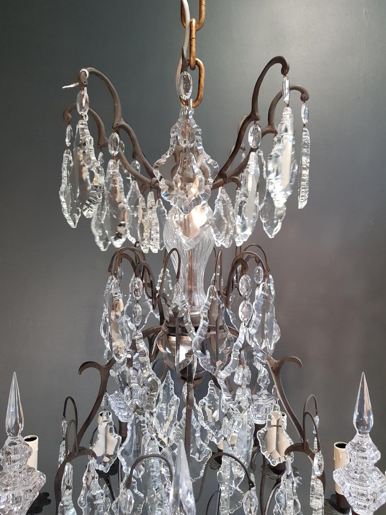 Fine French Crystal Chandelier Ceiling Lamp Lustre  8