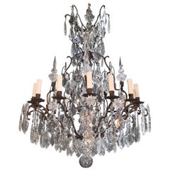 Fine French Crystal Chandelier Ceiling Lamp Lustre