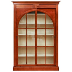 Fine French Handcrafted Fruitwood Display Cabinet