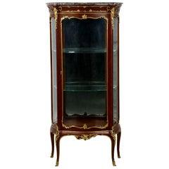 Fine French Louis XV Style Gilt Bronze Vitrine Display Cabinet Case, circa 1880