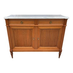 Fine French Louis XVI Antique Mahogany Sideboard/Buffet, 1910s