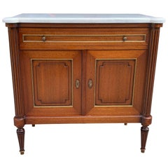 Fine French Louis XVI Antique Mahogany Sideboard or Credenza, 1910s