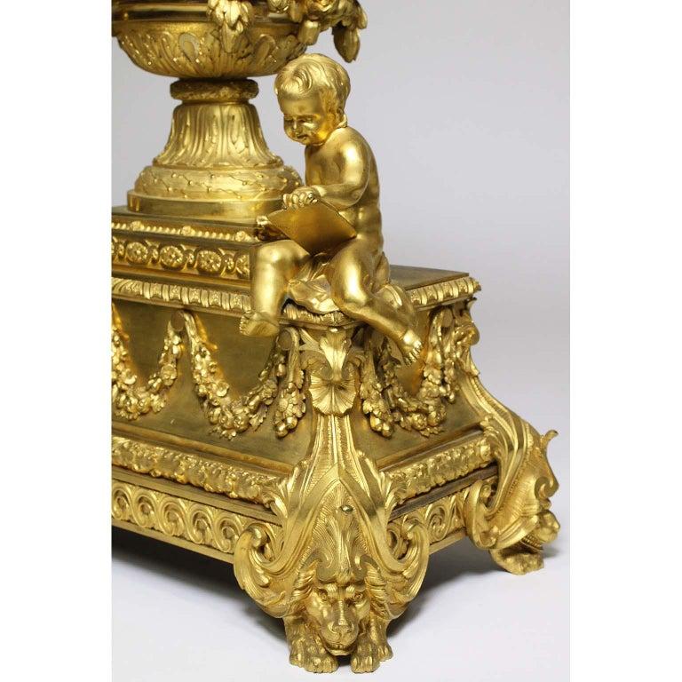 French Louis XVI Style Figural Gilt Bronze Mantel Clock - Étienne Le Noir, Paris For Sale 6