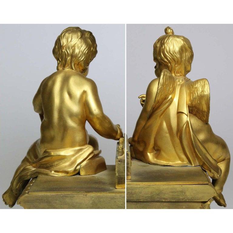 French Louis XVI Style Figural Gilt Bronze Mantel Clock - Étienne Le Noir, Paris For Sale 13