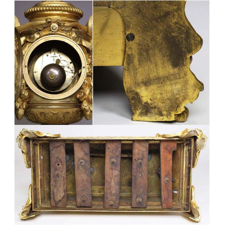 French Louis XVI Style Figural Gilt Bronze Mantel Clock - Étienne Le Noir, Paris For Sale 14