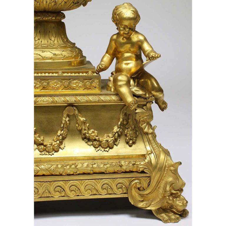 French Louis XVI Style Figural Gilt Bronze Mantel Clock - Étienne Le Noir, Paris For Sale 1