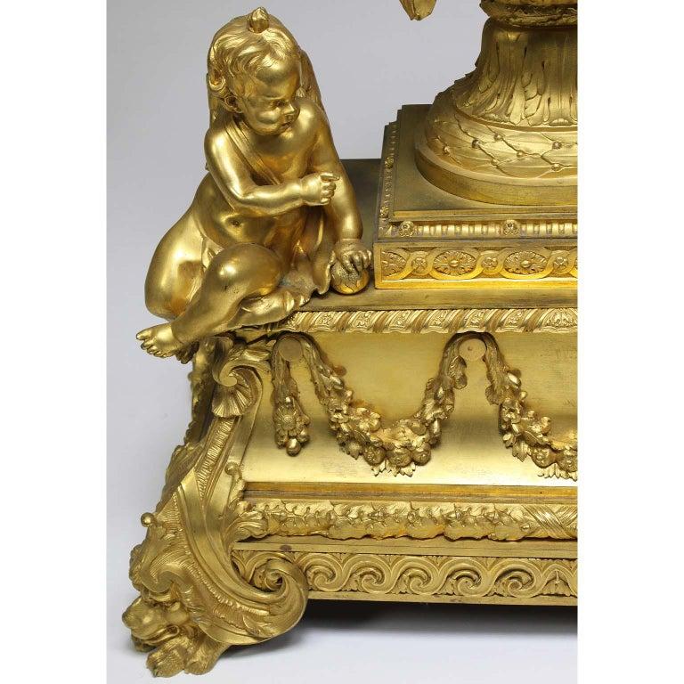 French Louis XVI Style Figural Gilt Bronze Mantel Clock - Étienne Le Noir, Paris For Sale 3