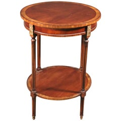Fine French Louis XVI Mahogany and Bronze Mounted Round End Table, circa 1950