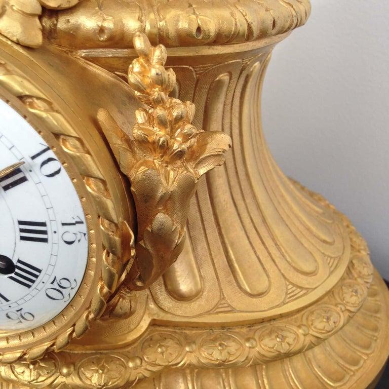 Fine French Ormolu and Bronze Mantel Clock by Deniere, Paris, Circa 1850 For Sale 5