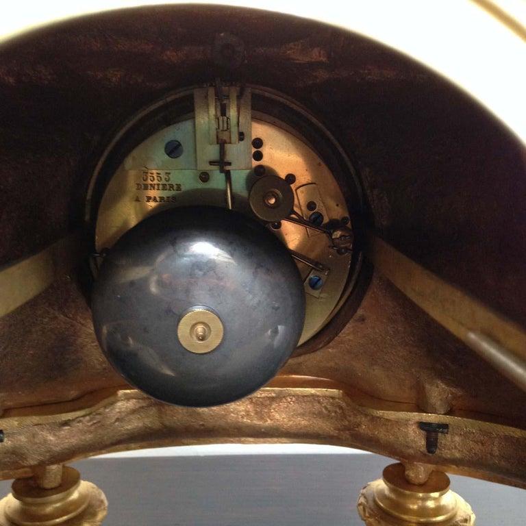 Fine French Ormolu and Bronze Mantel Clock by Deniere, Paris, Circa 1850 For Sale 7