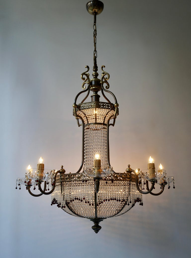 Fine French Sac a Pearl Chandelier For Sale 5