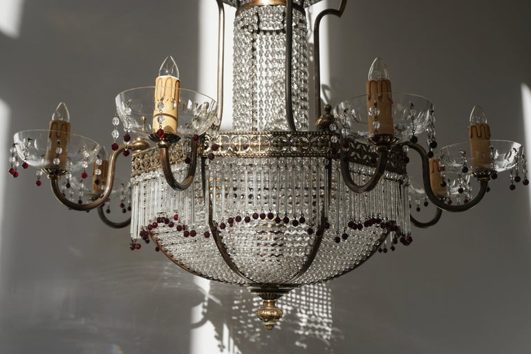 Fine French Sac a Pearl Chandelier For Sale 6