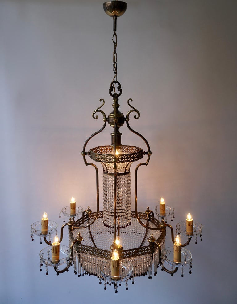 Fine French Sac a Pearl Chandelier For Sale 7