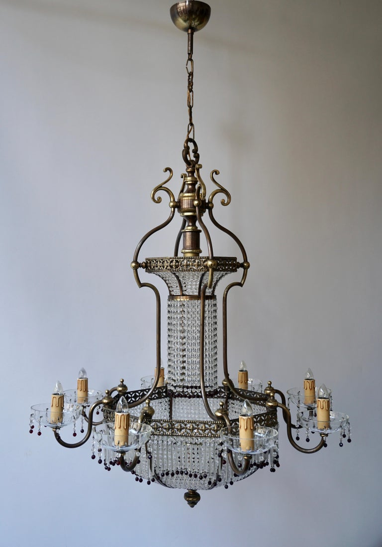 Fine French Sac a Pearl Chandelier For Sale 8
