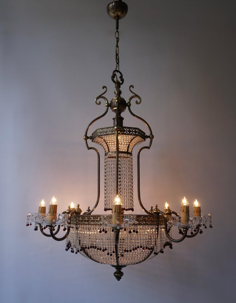 Fine French Sac a Pearl Chandelier For Sale 9