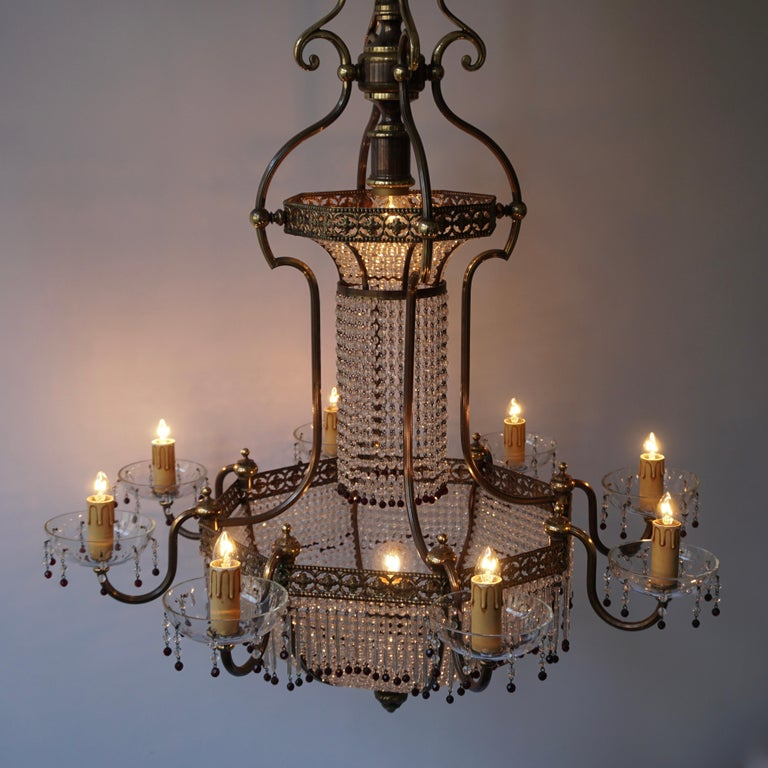Fine French Sac a Pearl Chandelier For Sale 10
