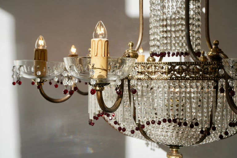Fine French Sac a Pearl Chandelier For Sale 11