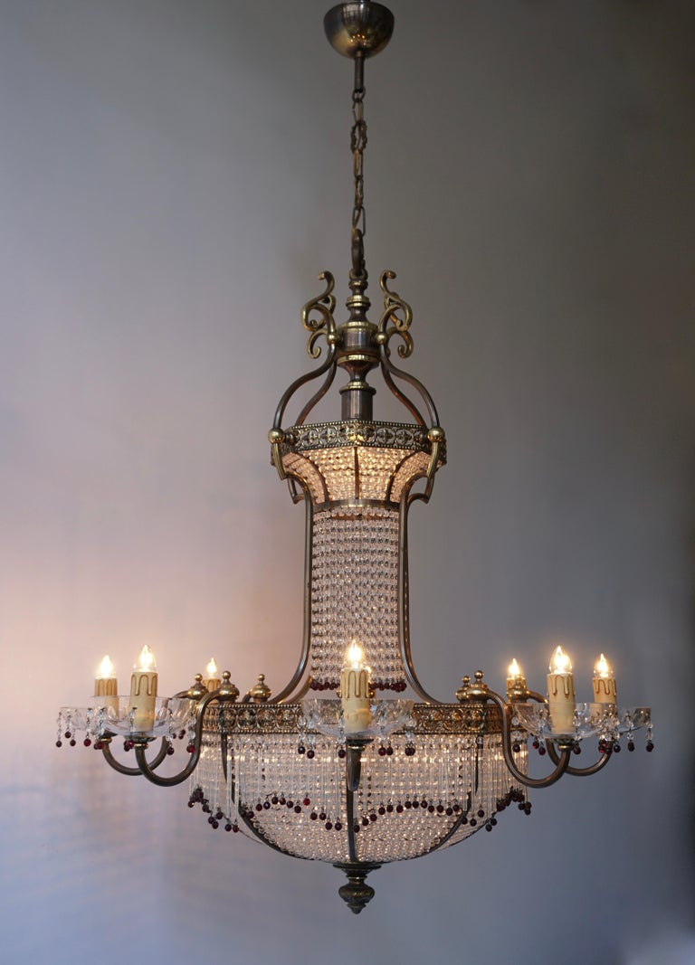 Fine French Sac a Pearl Chandelier In Good Condition For Sale In Antwerp, BE
