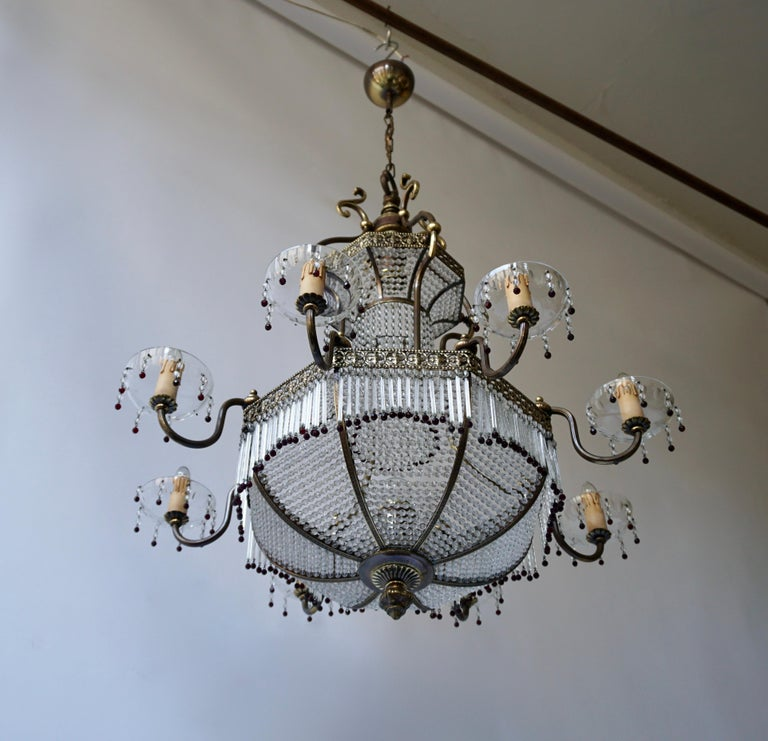 20th Century Fine French Sac a Pearl Chandelier For Sale