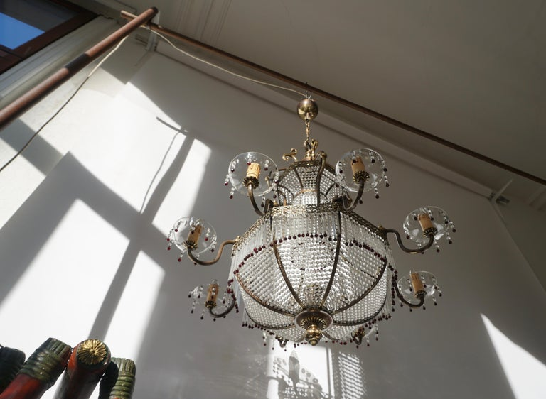 Fine French Sac a Pearl Chandelier For Sale 1