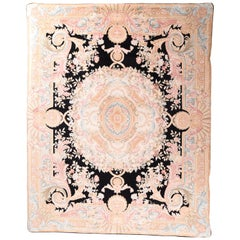 Fine French Savanory Weave Rug, Hand Knotted