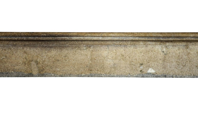 Louis Philippe Fine French Small Antique Limestone Fireplace Surround for Cosy Country Interior For Sale