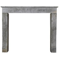Fine French Vintage Grey Stone Fireplace Surround For Timeless Classy Interior